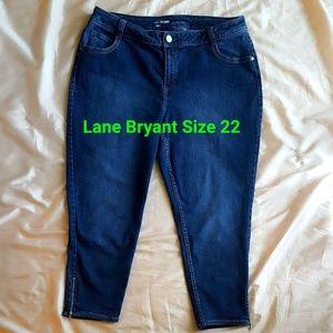 Lane Bryant Genius Fit Ankle Zip Jeans Size 22